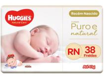 Fralda Huggies Premium Puro e Natural - Tam. RN 0 a 4kg 38 Unidades