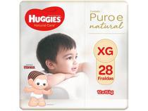 Fralda Huggies Premium Puro e Natural - Tam. XG 12 a 15kg 28 Unidades