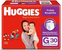 Fralda Huggies Roupinha Supreme Care G 30 Unidades -