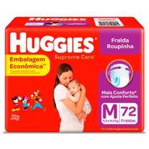 Fralda Huggies Roupinha Supreme Care M 72 Tiras -