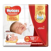 Fralda Huggies Supreme Care Recém-Nascido Tamanho RN (Até-4kg) 18 Fraldas Descartáveis - Turma Mônica/Huggies