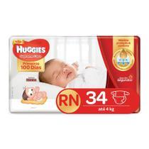 Fralda Huggies Supreme Care Recém-Nascido Tamanho RN (Até-4kg) 34 Fraldas Descartáveis - Turma Mônica/Huggies