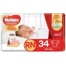 FRALDA HUGGIES SUPREME CARE RN 34 Fraldas -