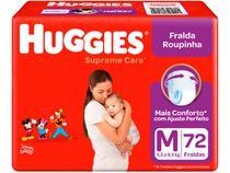 Fralda Huggies Supreme Care Roupinha Calça - Tam. M 5,5kg a 9,5kg 72 Unidades