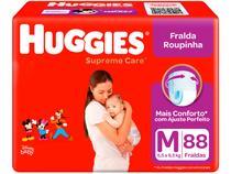 Fralda Huggies Supreme Care Roupinha Calça - Tam. M 5,5kg a 9,5kg 88 Unidades