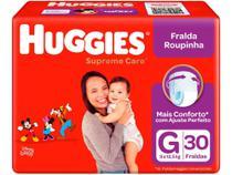 Fralda Huggies Supreme Care - Roupinha Tam. G 9 a 12,5kg 30 Unidades -