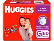 Fralda Huggies Supreme Care - Roupinha Tam. G 9 a 12,5kg 60 Unidades