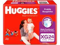 Fralda Huggies Supreme Care - Roupinha Tam. XG 12 a 15kg 24 Unidades -