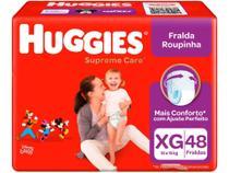 Fralda Huggies Supreme Care Roupinha  - Tam. XG 12 a 15kg 48 Unidades -