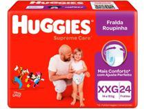 Fralda Huggies Supreme Care - Roupinha Tam. XXG + 14kg 24 Unidades -