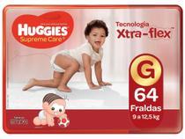Fralda Huggies Supreme Care - Tam. G 9 a 12,5kg 64 Unidades -