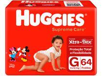 Fralda Huggies Supreme Care - Tam. G 9 a 12,5kg 64 Unidades