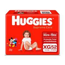 Fralda Huggies Supreme Care Tamanho XG 52 Fraldas Descartáveis -