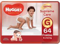 Fralda Huggies Supreme Care Turma da Mônica G 64 -