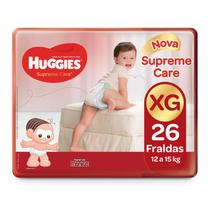 Fralda HUGGIES Supreme Care XG - 26 Fraldas - Turma Da Mônica