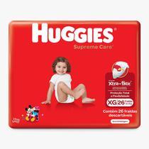 Fralda huggies supreme care xg c/26 -