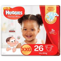 Fralda huggies supreme care xxg c/26