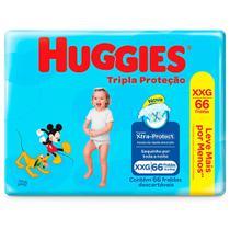 Fralda Huggies Tripla Proteção Hiper XXG 66 Tiras -