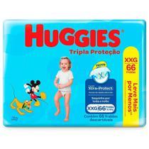 Fralda Huggies Tripla Proteção Hiper XXG 66 Unidades -