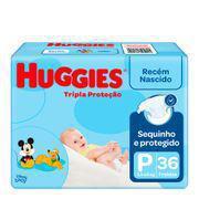 Fralda huggies tripla proteção jumbo p 36unid -