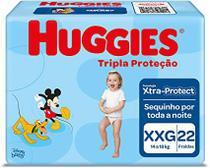 Fralda huggies tripla proteção jumbo xxg 22 uni -