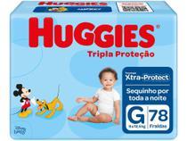 Fralda Huggies Tripla Proteção Tam. G - 9 a 12,5kg 78 Unidades -