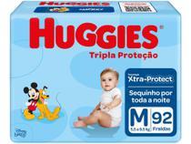 Fralda Huggies Tripla Proteção - Tam. M 5,5 a 9,5kg 92 Unidades -