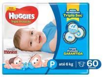 Fralda Huggies Tripla Proteção - Tam. P até 6kg 60 Unidades -