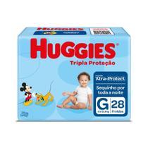 Fralda Huggies Tripla Proteção Tamanho G Pacote Jumbo 28 Fraldas Descartáveis -