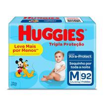 Fralda Huggies Tripla Proteção Tamanho M Pacote Hiper 92 Fraldas Descartáveis -
