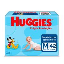 Fralda Huggies Tripla Proteção Tamanho M Pacote Mega 42 Fraldas Descartáveis -