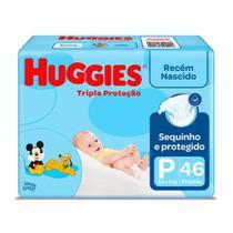 Fralda Huggies Tripla Proteção Tamanho P Pacote Mega 46 Fraldas Descartáveis -
