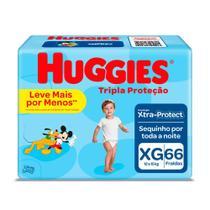 Fralda Huggies Tripla Proteção Tamanho XG Pacote Hiper 66 Fraldas Descartáveis -