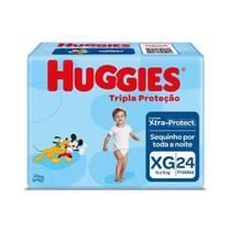 Fralda Huggies Tripla Proteção Tamanho XG Pacote Jumbo 24 Fraldas Descartáveis -