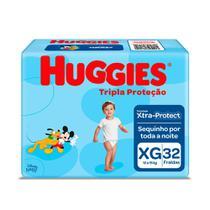 Fralda Huggies Tripla Proteção Tamanho XG Pacote Mega 32 Fraldas Descartáveis -