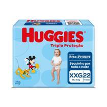 Fralda Huggies Tripla Proteção Tamanho XXG Pacote Jumbo 22 Fraldas Descartáveis -
