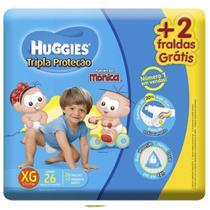 Fralda Huggies Tripla Proteção XG com 26 unidades -