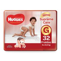 Fralda Huggies Turma da Mônica Supreme Care G - 32 unidades -