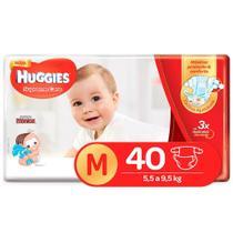 Fralda Huggies Turma Da Monica Supreme Care Mega M  40 Unidades - Marca Padrão