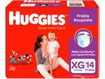 Fralda Huggies Turma da Mônica Supreme Care - Roupinha Tam. XG 12 a 15kg 14 Unidades