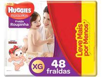 Fralda Huggies Turma da Mônica Supreme Care - Roupinha Tam. XG 12 a 15kg 48 Unidades