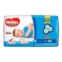 Fralda Huggies Turma da Mônica Tripla Proteção Tamanho P Pacote Mega 46 Fraldas Descartáveis - Turma Mônica/Huggies