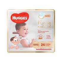 Fralda Huggies XXG Natural Care Mega 24 Unidades -