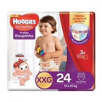 Fralda Huggies XXG Supreme Care Roupinha Mega 24 Unidades -