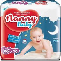 Fralda Infantil com 70 Unidades Tamanho GG/XG - Nanny Baby -