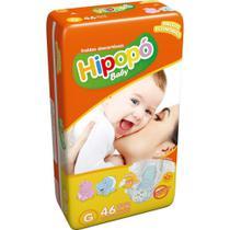Fralda Infantil Descartável  Hipopo Economico Baby Gr 46 Un -