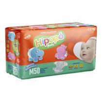 Fralda Infantil Descartável  Hipopo Economico Baby M 50 Un -