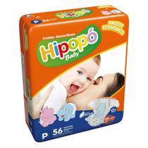 Fralda Infantil Descartável  Hipopo Economico Baby Peq 56 Un -