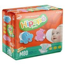 Fralda Infantil Descartável  Hipopo Mega Baby M 80 Un -