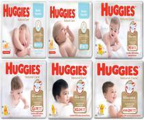 Fralda Infantil Descartável Huggies Baby Natural Care Mega Pacotão -